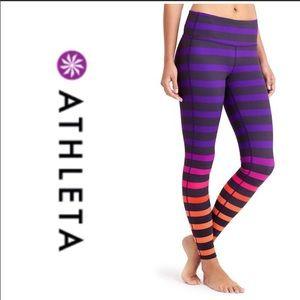 Athleta sz XS high-rise striped Chaturanga tights